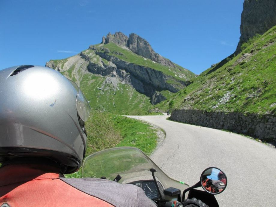 Crossing the Alps from France to Italy