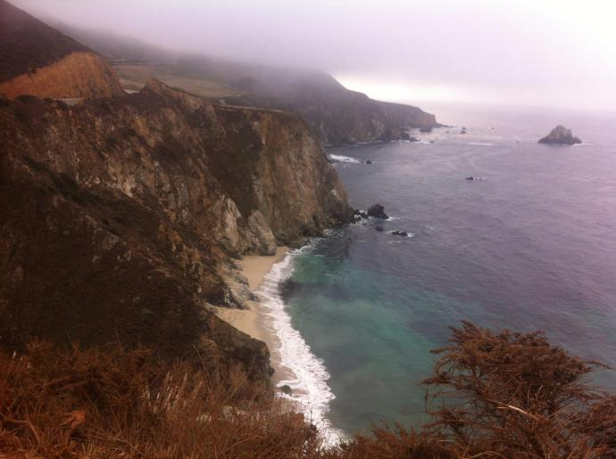 Big Sur coastline along California's Highway 1