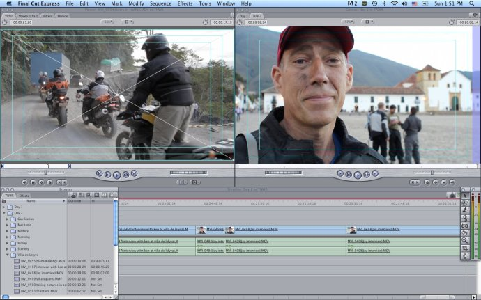 Final Cut Pro Sequence from The New World Ride